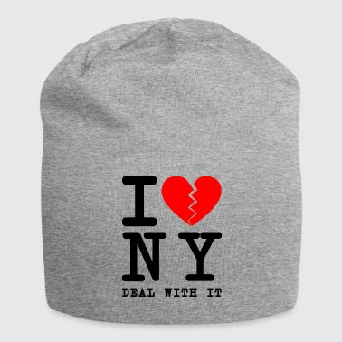I hate NY New York tourist shirt come on - Jersey Beanie