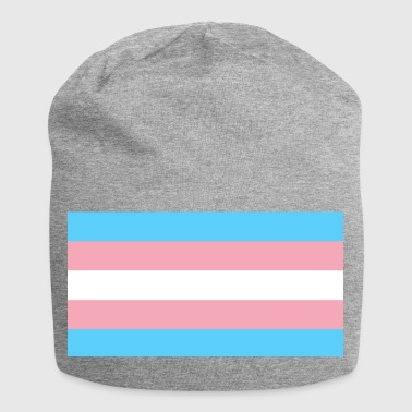 Trans-Flagge Design - Jersey-Beanie