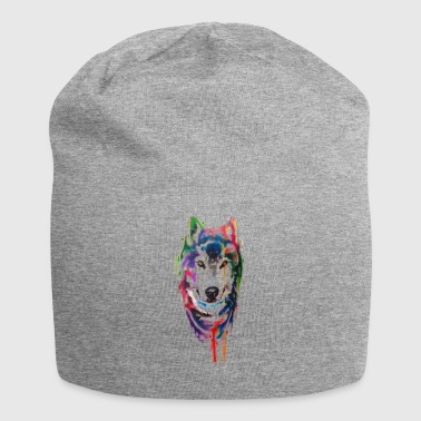 colored wolf - Beanie in jersey