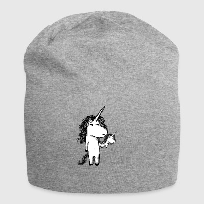 Kaede the unicorn and his angry friend - Jersey Beanie