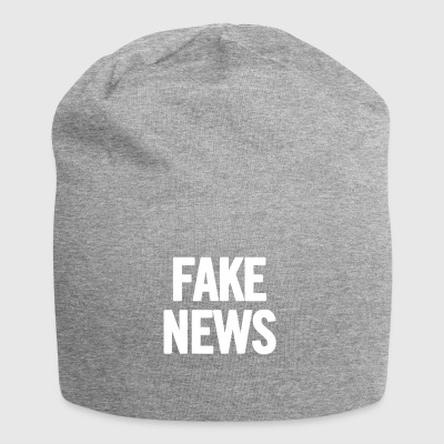 Fake News White - Jersey Beanie