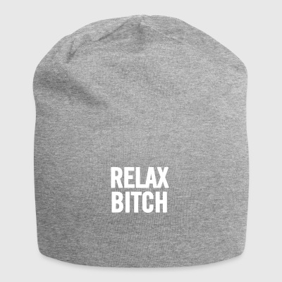 Relax Bitch White - Jersey Beanie