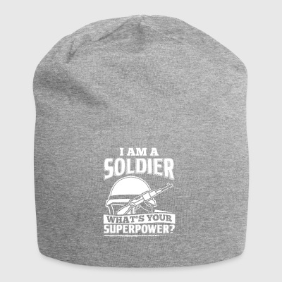 Funny Soldier Army Shirt I Am A - Jersey Beanie