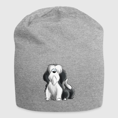 Jeg er Bearded Collie - grå - Jersey-beanie