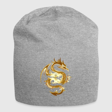 Golden Chinese Dragon Gift Idea - Jersey Beanie
