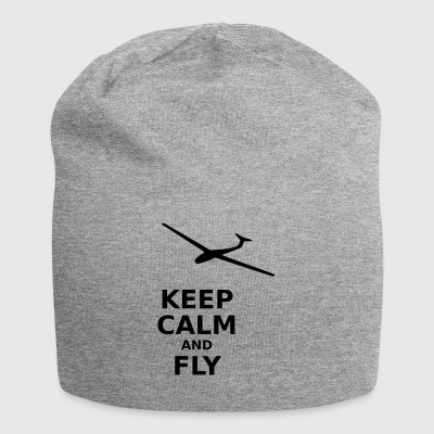 Keep calm and fly - Jersey Beanie