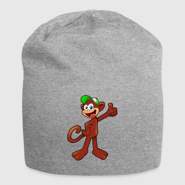 Comic Monkey farverige Thumbs Up Laughing - Jersey-Beanie