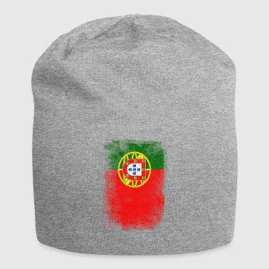 Portugal Flag Proud Portoguese Vintage Distressed - Bonnet en jersey