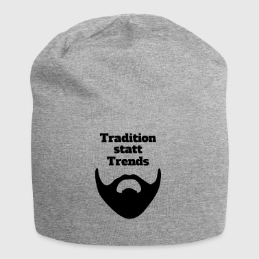 Tradition statt Trends - Jersey-Beanie