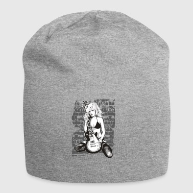 Guitar Girl Guitar Shirt awesome gift - Jersey Beanie