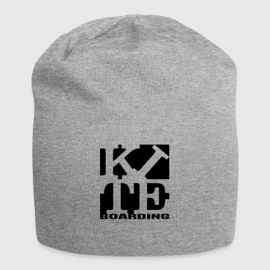 kite homage to robert Indiana boarding black - Jersey Beanie