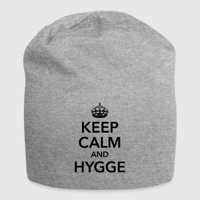 keep calm and hygge happiness happy positive - Jersey Beanie