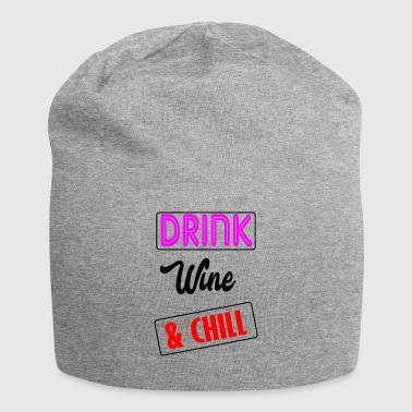 wine and chill - Jersey Beanie