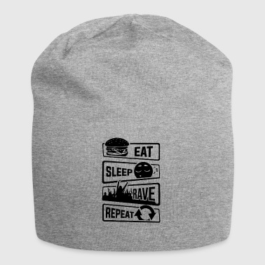 Eat Sleep Rave Repeat - Party Celebrate Music Electro - Jersey Beanie