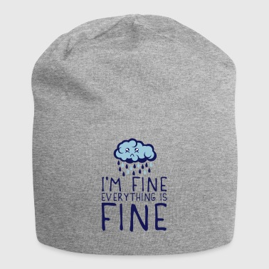 quote cloud i am fine everything sad depressed - Jersey Beanie