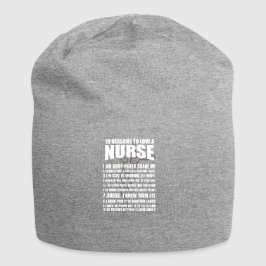 10 Reasons to love a nurse - Jersey Beanie