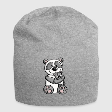 Panda bear with baby - children - family - Jersey Beanie