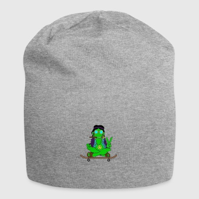 Frog on skateboard - Jersey Beanie
