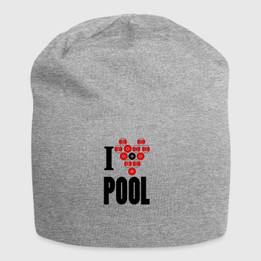 I love pool - Jersey Beanie