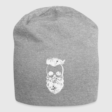 washed-out skull - Jersey Beanie