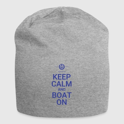 Keep Calm and Boat On - Jersey Beanie