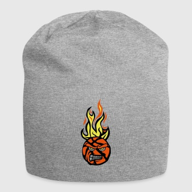 basketball face cartoon flamme13 fire fe - Bonnet en jersey