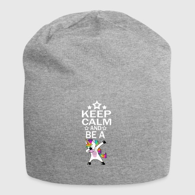 Keep Calm Unicorn Unicorn Gift Idea - Jersey Beanie