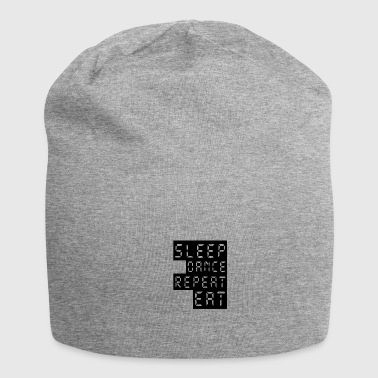 SLEEP, DANCE, REPEAT, EAT - Jersey Beanie