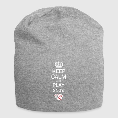 Keep Calm and Play SNG - Sit and Go Poker - Jersey-Beanie