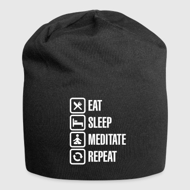 Eat -  sleep - meditate - repeat - Jersey Beanie