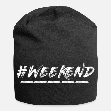 Weekend #weekend - Beanie in jersey