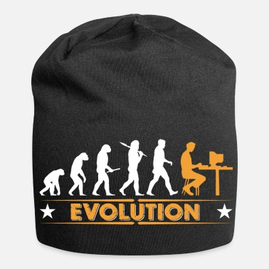 Gamer Computer Nerd Evolution - orange/weiss - Beanie