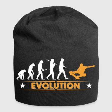 Skateboard Evolution - orange/weiss - Gorro holgado de tela de jersey