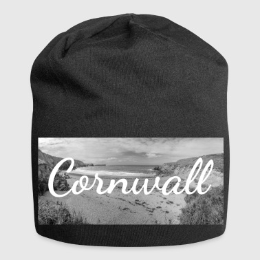 Cornwall Retro Lettering at Cornwall England - Jersey Beanie