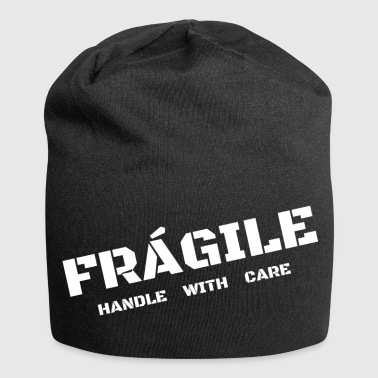 Fragile- Handle With Care breekbaar - Jersey-Beanie