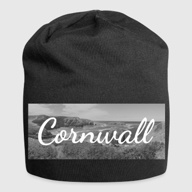 Cornwall Retro Lettering at a Cornwall Beach England - Jersey Beanie
