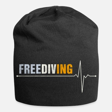 Freediving Freediving freediving heartbeat ECG - Jersey Beanie