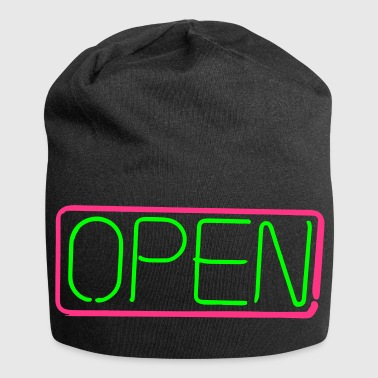 open opened sign vector - Jersey Beanie