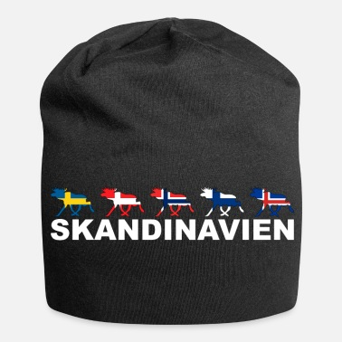 Scandinavia Scandinavia Elk - Elk Moose Scandinavia Nordic - Beanie in jersey