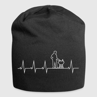 Barbecue - Grillmeister - Heartbeat - Beanie in jersey