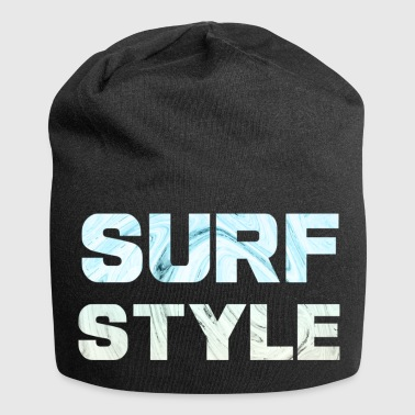 Surfstyle1 lettering with marble background - Jersey Beanie