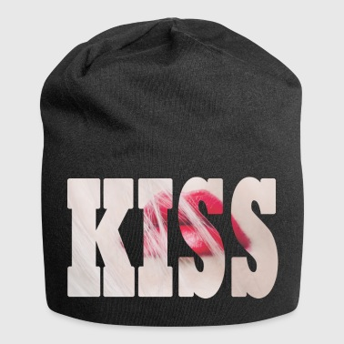 KISS - lips with KISS lettering - Jersey Beanie