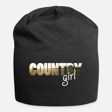 Country Girl country - Beanie in jersey