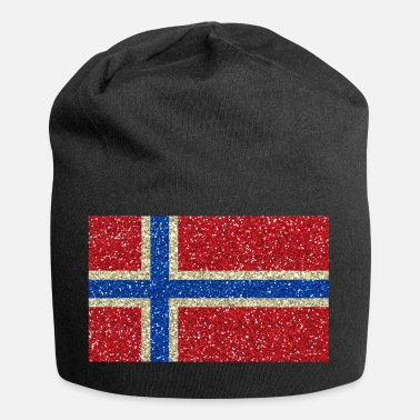 Norge Norge flag banner Glitter nationale farver stolt - Jersey-Beanie