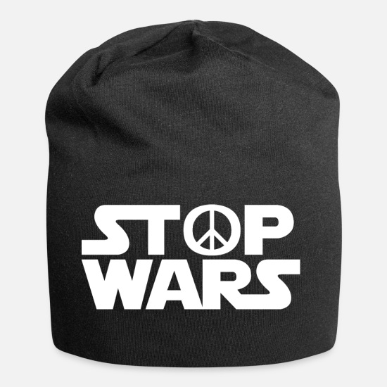 Peace Sign Caps & Hats - Peace / Stop wars / gift idea - Beanie black