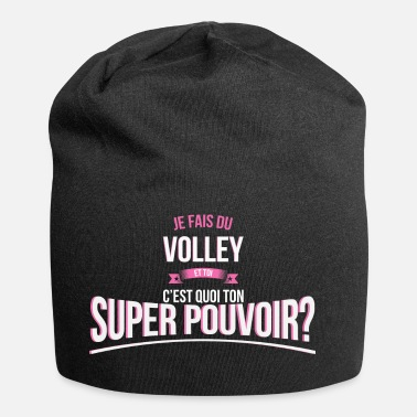 Beach Volley Volley super pouvoir cadeau - Bonnet en jersey