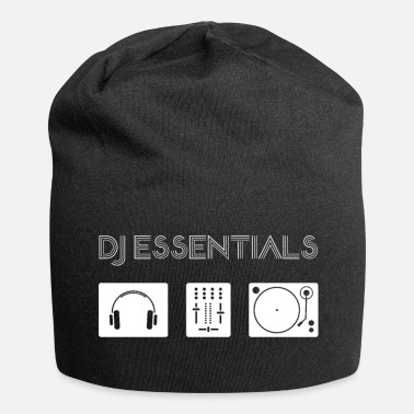Synthesizer DJ Essentials - turntable, mixer, headphone 2 - Jersey Beanie