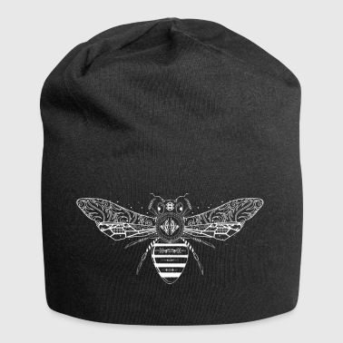 artfully designed white bee - Jersey Beanie