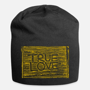True Love True Love (true love) in gold - Jersey Beanie