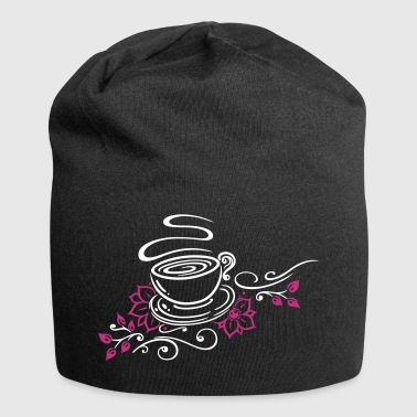 Tea, tea cup, tea time, cherry blossoms - Jersey Beanie